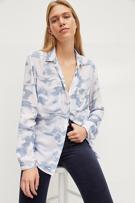 Cloth & Stone Classic Buttondown By in Blue Size XS