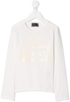 Versace Logo Long-Sleeve Top