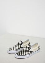 Vans Black & White Checkerboard / White Men's UA Classic Slip-on Sneaker