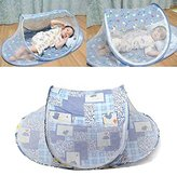 Xinshiji Baby Bed Portable Baby Mosquito Tent Insect Cover Infant Travel Bed (Blue)