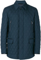 Brioni flap pockets quilted jacket - men - Silk/Cotton/Calf Leather/Wool - M