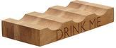 John Lewis Drink Me Wine Rack, 3 Bottle, Oak Wood
