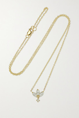 Maria Tash Lotus 18-karat Gold Diamond Necklace - one size