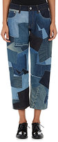 Junya Watanabe Comme des Garçons Women's Patchwork Cotton Relaxed-Fit Jeans-BLUE