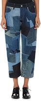 Junya Watanabe Comme des Garçons Women's Patchwork Cotton Relaxed-Fit Jeans