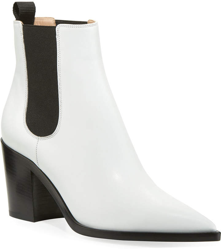 Gianvito Rossi Leather Western Chelsea Booties