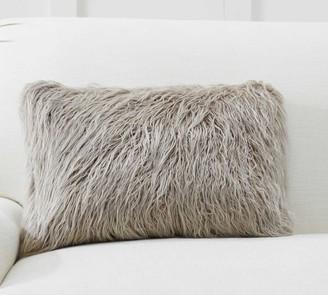 Pottery Barn Mongolian Faux Fur Lumbar Pillow Covers