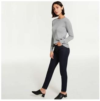 Joe Fresh Women's Cashmere Blend Pullover, Light Purple Mix (Size XL)