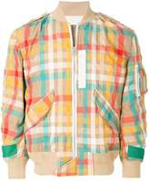 Sacai check bomber jacket