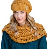 Eterno Paloma women's snood scarf not patterned mono colour for