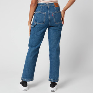 Levi's Women's Ribcage Straight Ankle Utility Jeans