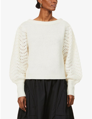 Merlette New York Somerset dolman-sleeved wool-blend jumper