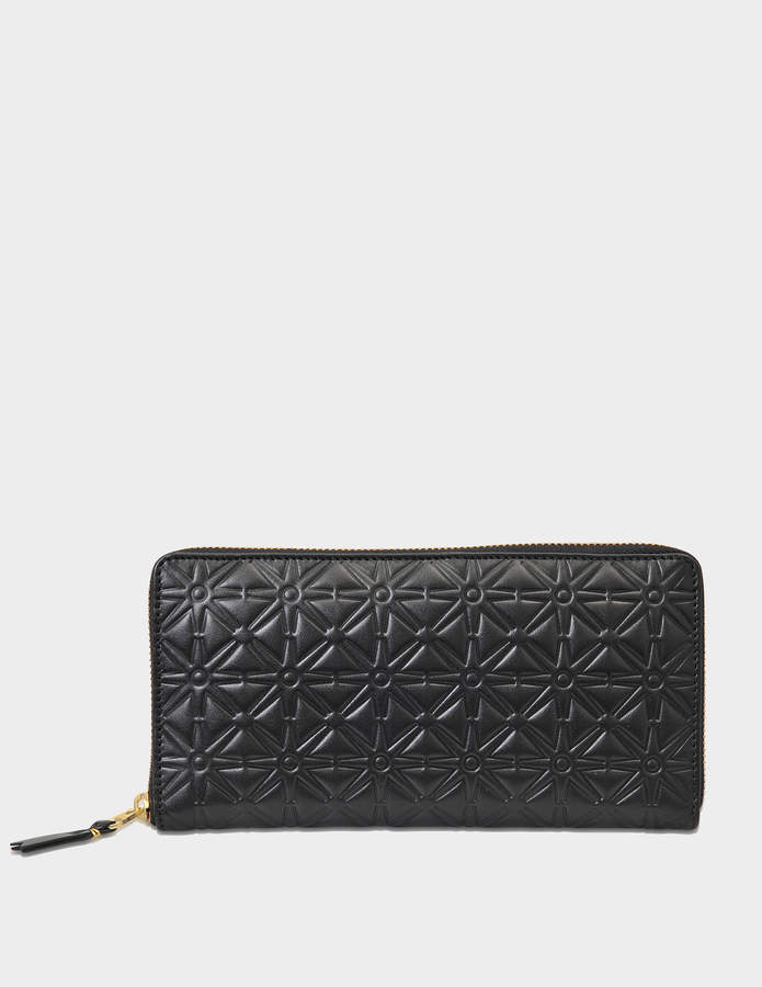 Comme des Garcons Pattern A zip around wallet