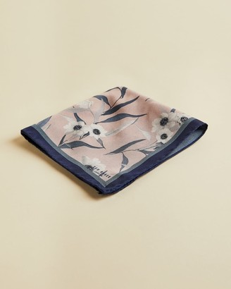 Ted Baker Silk Floral Pocket Square