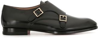 Santoni Leather Monk Shoes
