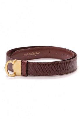 Cartier Red Leather Belts