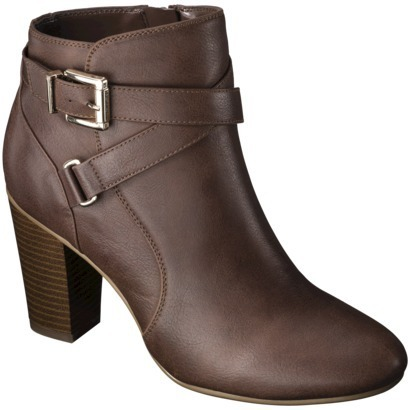 Merona Women's Kailey Dress Ankle Boot - Cognac