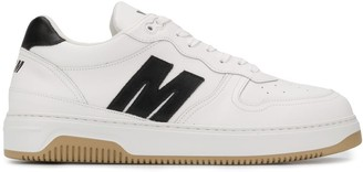 MSGM Logo-Panel Low Top Sneakers