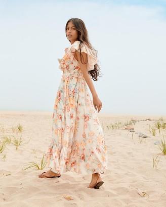 Loeffler Randall June Beach Dress White Floral