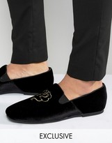 Hudson London Exclusive To Asos Velvet Loafers