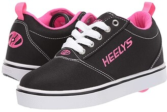 Heelys Pro 20 (Little Kid/Big Kid/Adult) (Black/White/Pink) Girl's Shoes
