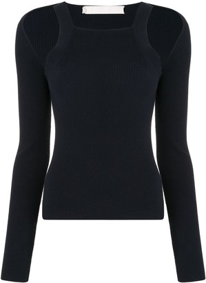 Dion Lee Hybrid LS knitted top