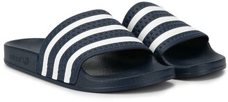 Adidas Originals Kids TEEN Adilette striped slides