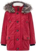 Monsoon Richie Red Parka Coat