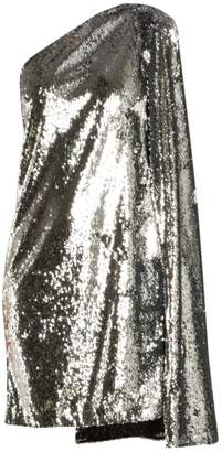 Stella McCartney Asymmetric Messy Sequin Cape Shift Dress