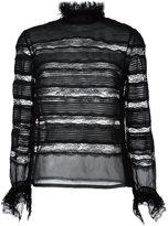 Isabel Marant transparent panel lace blouse - women - Silk/Cotton/Polyamide/Viscose - 42