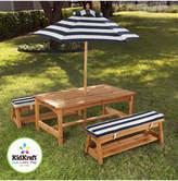 Kid Kraft Outdoor Table & Bench Set With Umbrella