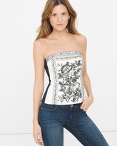 White House Black Market Garden Floral Embroidered Bustier
