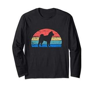 Breed Shiba Inu Cool Retro Dog Lover Gift Idea Men Women Long Sleeve T-Shirt