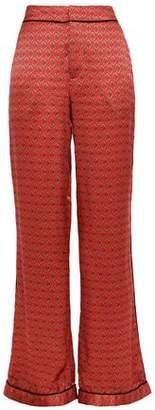 Johanna Ortiz Florinda Printed Silk-satin Straight-leg Pants