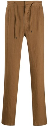 Lardini Drawstring-Waist Straight-Leg Trousers