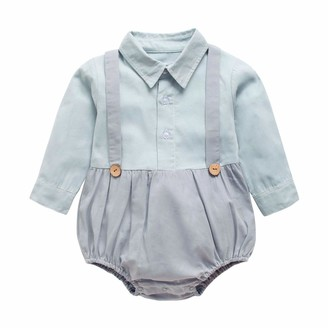 Sanlutoz Cotton Baby Boy Bodysuits Fashion Long Sleeves Baby Boy Clothing Casual Baby Clothes for Newborn (18-24 Months