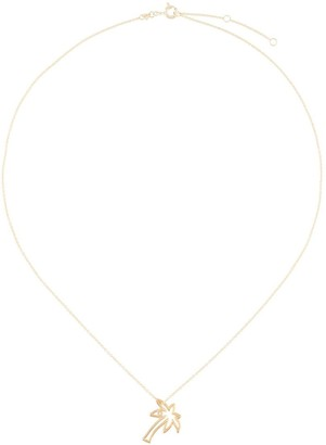 ALIITA 9kt yellow gold Palmera Brilliante diamond necklace