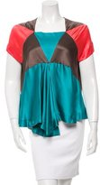 Alexandre Herchcovitch Silk Colorblock Top