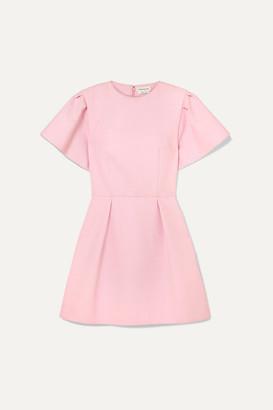 Alexander McQueen Wool-blend Crepe Mini Dress - Pink