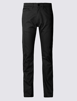 Blue Harbour Straight Cotton Rich Jean Style Trousers