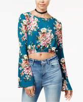 Polly & Esther Juniors' Printed Split-Back Crop Top