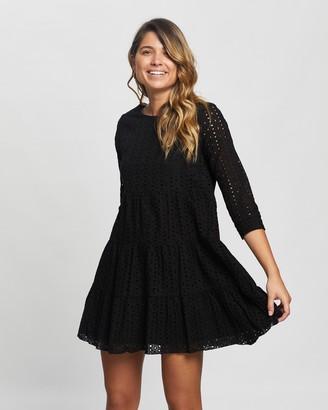 Atmos & Here Atmos&Here - Women's Black Mini Dresses - Olivia Mini Dress - Size 10 at The Iconic