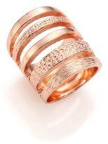 Pamela Love Single Cage Rose Goldtone Ring
