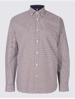 Blue Harbour Cotton Rich Checked Shirt With Pocket