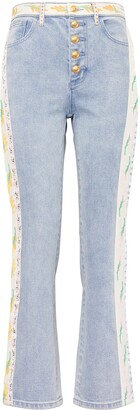 Tory Burch Ribbon Embellished Flare Jeans
