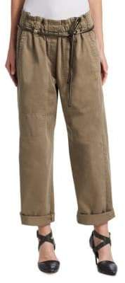 Brunello Cucinelli Pull-On Slouched Cropped Pants