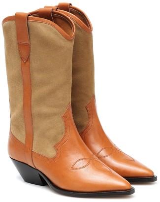 Isabel Marant Dandrea leather cowboy boots