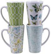 Certified International The Greenhouse 4-pc. Latte Mug Set