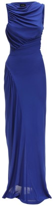 Atlein Ruched Viscose Jersey Dress