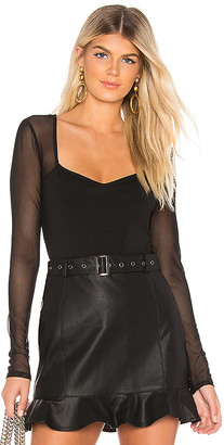 superdown Nathalie Mesh Sleeve Bodysuit